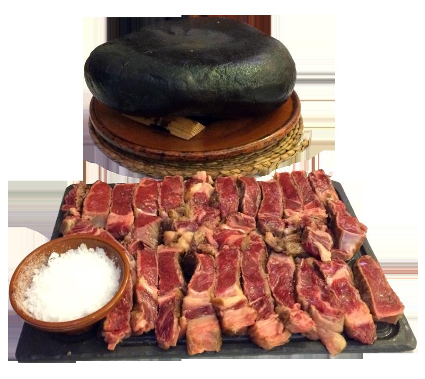 comer carne a la piedra en Cantabria